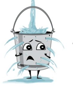 Leaky bucket cartoon