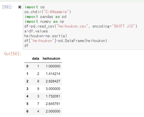 【Python】Pandasとnumpyにて平方根(ルート)や立方根の計算を行う方法【列ごとに一括で】   ウルトラフリーダム