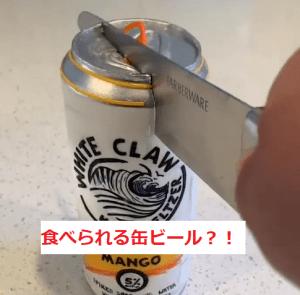 食べられる缶ビールケーキ1