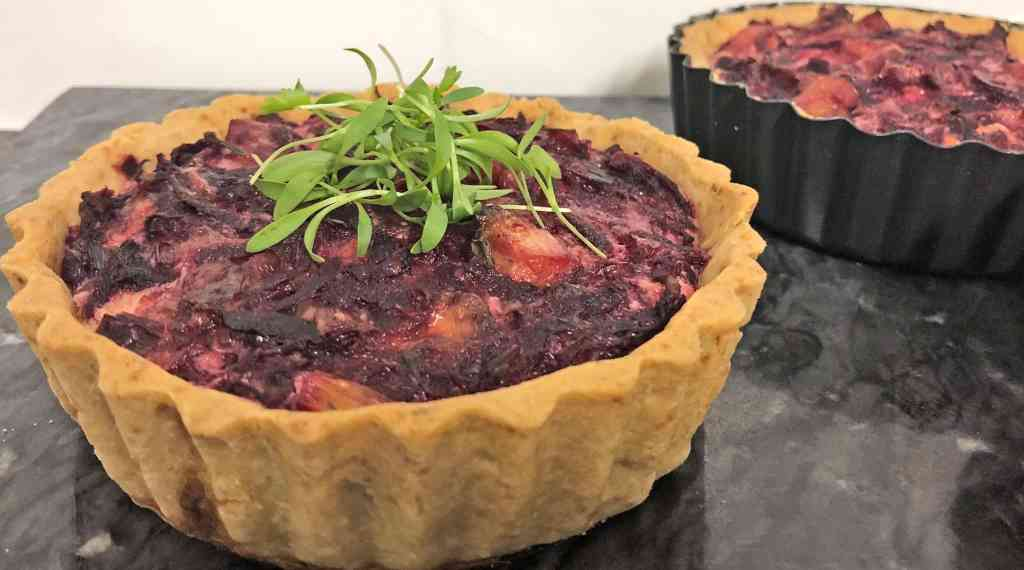 Beetroot and Bacon Tart