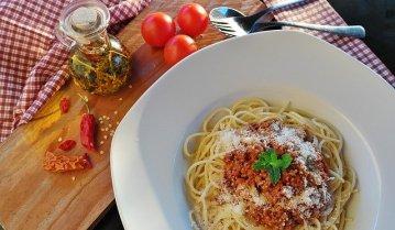 スパゲティ中心のGI値を意識した夕食