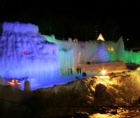層雲峡 氷瀑まつりへのアクセスは?ライトアップ 花火の時間は?