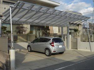 岡崎市カーポートアール曲線デザイン施工例