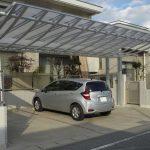アール(曲線)デザインのカーポート!ワンランク上の素敵な駐車場