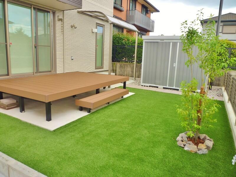 人工芝のある庭|愛知県豊明市、知立市を中心に三河地区№1スタッフ数のエクステリア・外構 ライフ・ランド