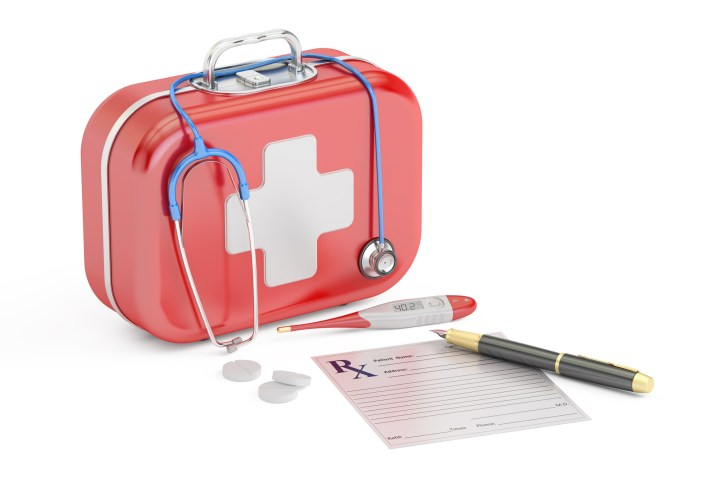 First Medical Aid and Treatment concept, 3D rendering