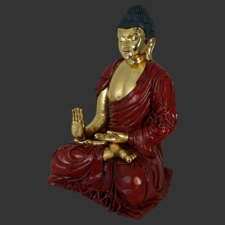 Red & Gold Buddha Giant 3D Realistic Statue
