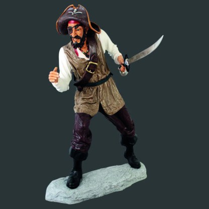 Life Size Models Realistic Models Sculpture Life Sized Model Life Size Replica statue cars Replica Models Dinosaurs life size figurines Albshed lifesize models Alba shed Pirate with One Eye-Lifesize-Human-Realistic-Model