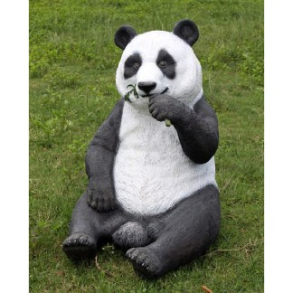 Panda Eating Statue 3D Realistic Lifesize Wild Animal Model
