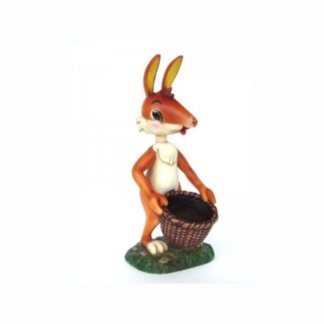 Realistic Models Sculpture Life Sized Model Life Size Replica statue cars Replica Models Dinosaurs life size figurines Albashed Alba shed Rabbit with Basket-Lifesize-Resin-Displsy-Model