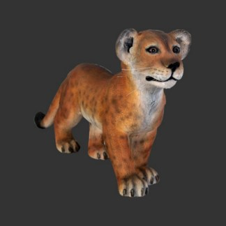 Lion Cub Standing Lifesize Realistic Animal Model