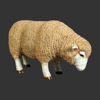 Merino Ewe Head Down Smaller Size 3D Statue