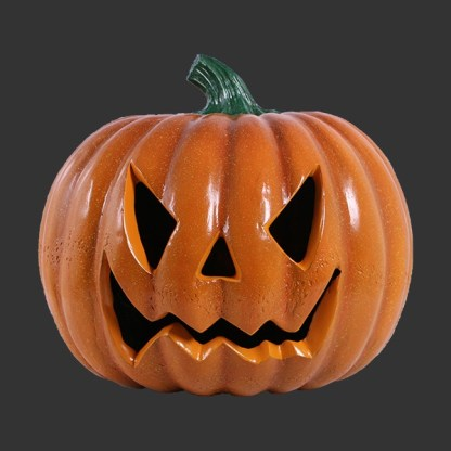 Scary Face Pumpkin 3D Realistic Figure