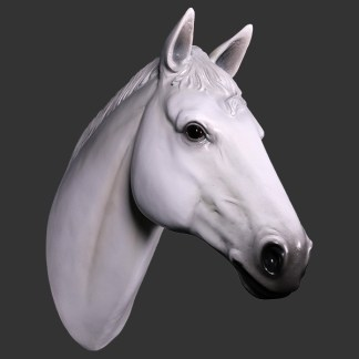 Horse Head White Life Size 3D Model