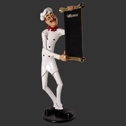 Skinny Chef Menu Board 3D Realistic Figure