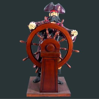 Pirate Wooden Wheel Life Size Realistic 3D Figure