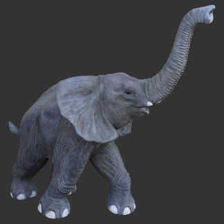 Baby Elephant Walking Life Size 3D Realistic Statue