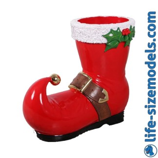 Christmas Boot Figure 3D Realistic Christmas Prop