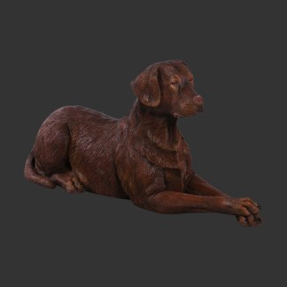 Chocolate Labrador Life Size 3D Realistic Dog Statue