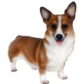 Corgi Dog Statue 3D Realistic Lifesize Dog Model