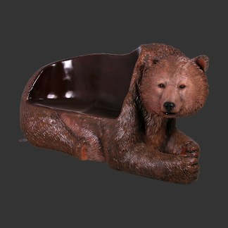 Grizzly Bear Seat 3D Realistic Life Size Statue