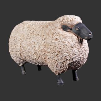 Jumbo Sheep Statue 3D Realstic Farmyard Animal Statue
