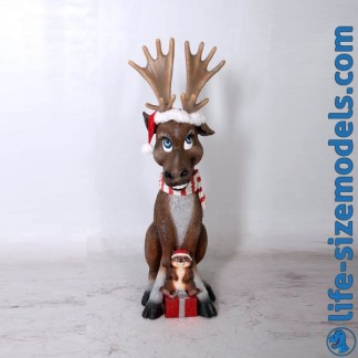 Funny Moose Figure Life Size Christmas Model
