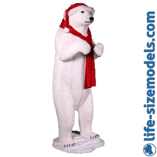 Christmas Polar Bear Figure