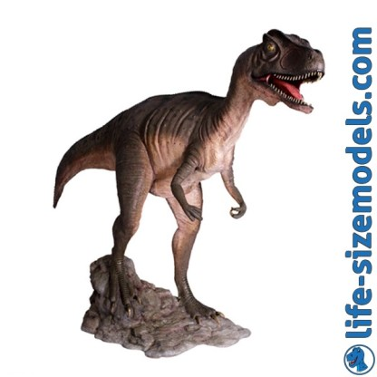 Allosaurus Mouth Open Statue 3D Realistic Lifesize Dinosaur Model