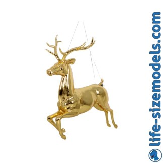 Hanging Reindeer-Gold Leaf Lifesize Christmas Model