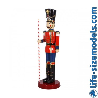 Toy Soldier with Baton 6.5ft Figure 3D Realistic Life Size Christmas Model