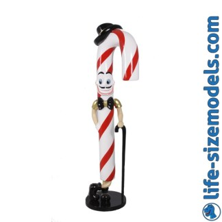 Candy Cane Jo Figure 3D Realistic Lifesize Christmas Model