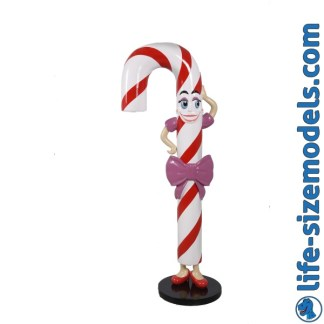 Candy Cane Mo Figure 3D Realistic Lifesize Christmas Model