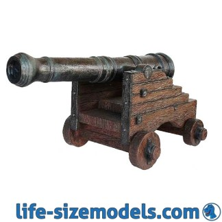 Cannon Statue Lifesize 3D Model