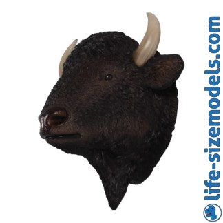 Bison Head 3D Realistic Lifesize Model
