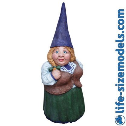 Garden Gnome-Female 3D Garden Ornament