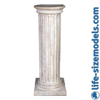 Fluted Column Garden Ornament