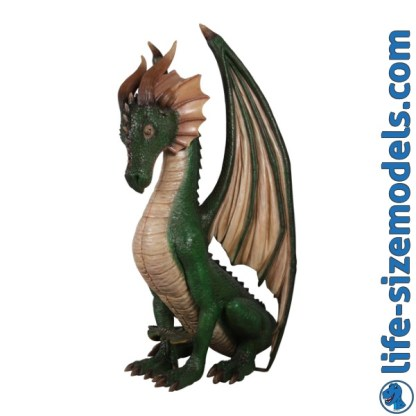 Dragon Sitting Figure 3D Realistic Lifesize Model