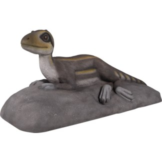 Theropod Lying Statue 3D Realistic Dinosaur Model
