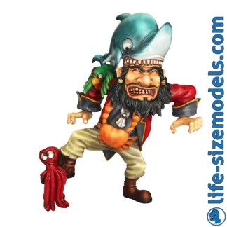 Pirate Grumpy Figure 3D Realistic Lifesize Model