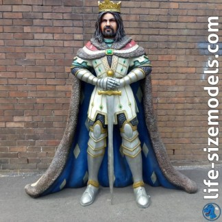 King Arthur Figure 3D Realistic Lifesize Model