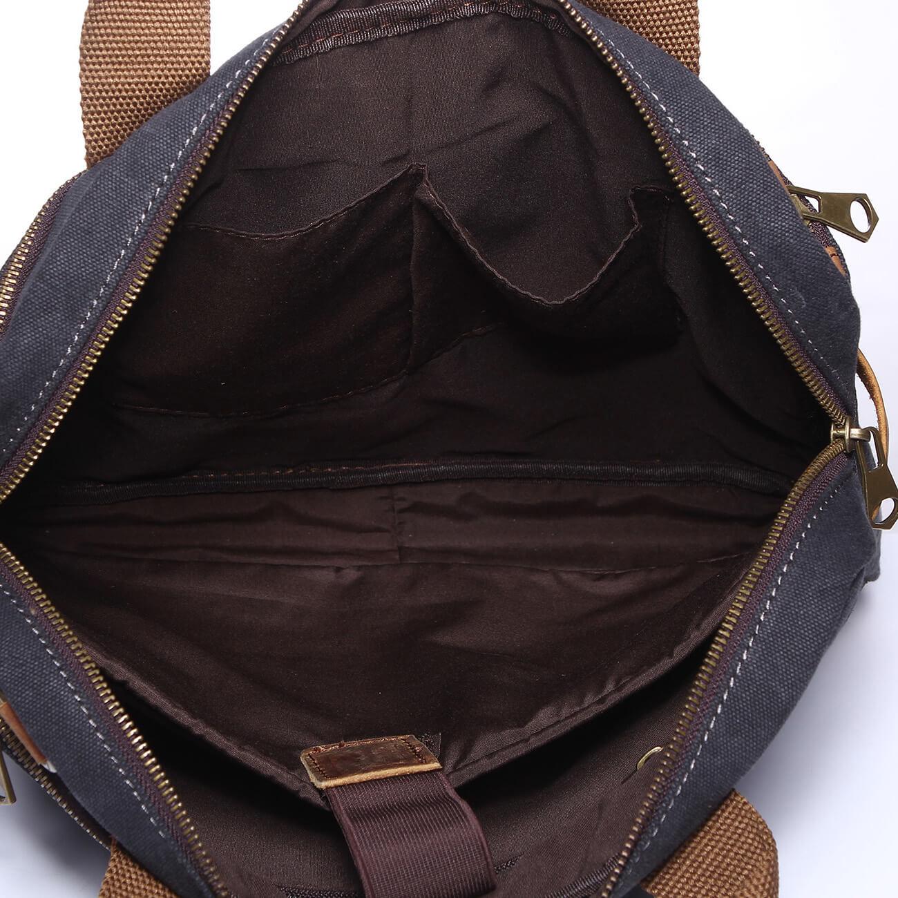 ffdf40bedbe8 Heavy Cotton Canvas Laptop Bag Tote Business Bag Men Shoulder Bag Briefcase