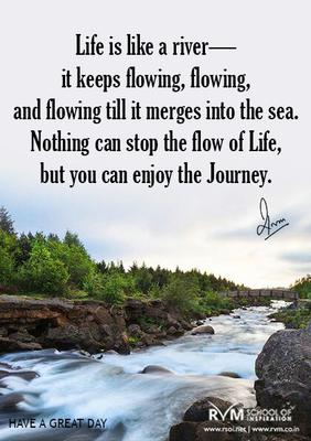 Life Like River Quote : river, quote, Inspirational, Quote