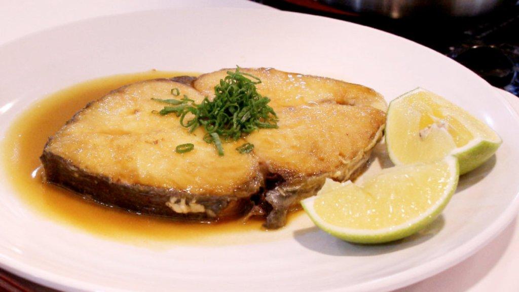 奶油鹽烤土魠魚