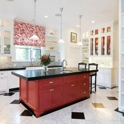 Kitchen Counter Play Accessories 红色厨房装修设计效果图_央广网