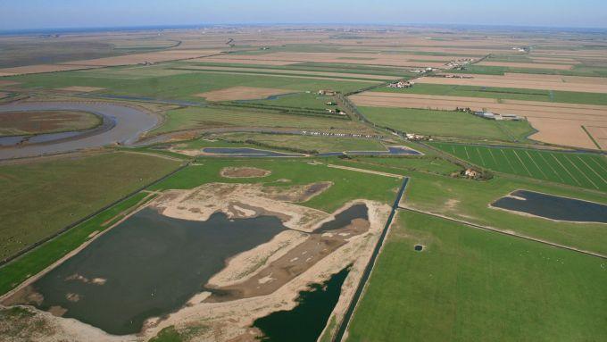 Vue aérienne de la Prée Mizottière sur la commune de Sainte-radégonde-des-Noyers en Vendée - Life baie de l'Aiguillon