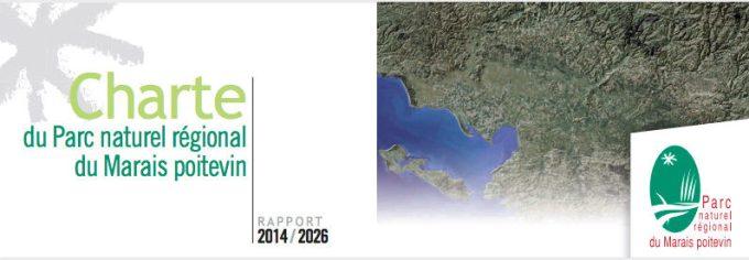 Couverture de la charte du PNR du Marais poitevin - Rapport 2014/2016