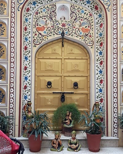 Marble Door frame with Inlay