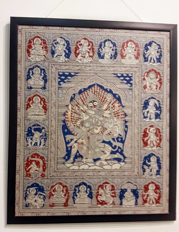 Pattachitra painting on silk