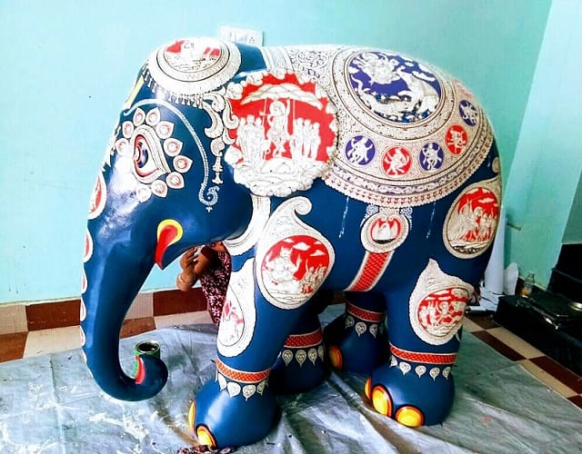 Pattachitra On Elephant